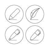Ícones do lápis Fotografia de Stock