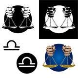 Ícones do Libra do zodíaco Imagens de Stock
