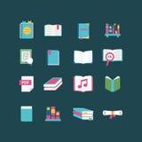 Ícones do livro Fotografia de Stock