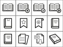 Ícones do livro ajustados Imagens de Stock