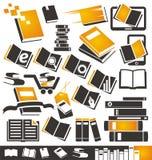 Ícones do livro ajustados Fotografia de Stock