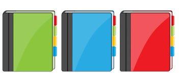 Ícones do livro de endereço ilustração stock