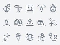 Ícones do lugar ilustração stock