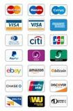 Ícones do método do pagamento Fotografia de Stock Royalty Free