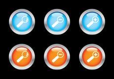 Ícones do Magnifier ilustração stock