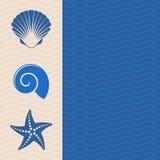 Ícones do mar Fotografia de Stock Royalty Free