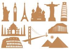 Ícones do marco Foto de Stock Royalty Free