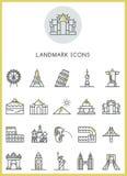 Ícones do marco ajustados Foto de Stock Royalty Free
