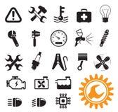 Ícones do mecânico de carro Imagens de Stock Royalty Free