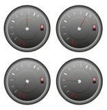 Ícones do medidor de combustível ajustados Imagem de Stock Royalty Free