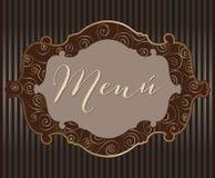 Ícones do menu Fotografia de Stock