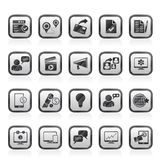 Ícones do mercado e do comércio do Internet Fotografia de Stock Royalty Free