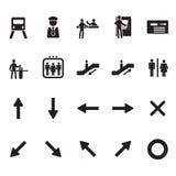 Ícones do metro e do metro ajustados Imagens de Stock Royalty Free