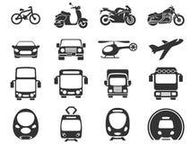 Ícones do modo de transporte Fotografia de Stock