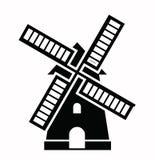 Ícones do moinho de vento Fotografia de Stock
