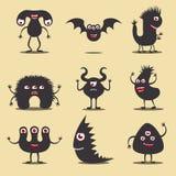 Ícones do monstro ajustados Imagem de Stock