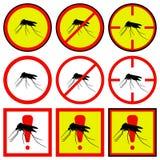 Ícones do mosquito da ilustração do vetor Foto de Stock Royalty Free