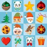 Ícones do Natal Foto de Stock Royalty Free