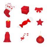 Ícones do Natal Imagem de Stock Royalty Free