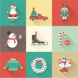 Ícones do Natal Foto de Stock