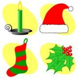 Ícones do Natal Imagens de Stock