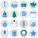 Ícones do Natal Fotografia de Stock