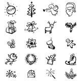 Ícones do Natal Fotografia de Stock Royalty Free