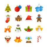 Ícones do Natal ilustração stock