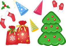 Ícones do Natal ajustados Fotos de Stock
