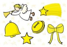 Ícones do Natal ajustados Ilustração Royalty Free