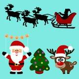 Ícones do Natal coleção Foto de Stock Royalty Free