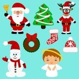 Ícones do Natal coleção Imagens de Stock