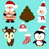 Ícones do Natal coleção Imagens de Stock Royalty Free