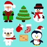 Ícones do Natal coleção Foto de Stock