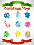 Ícones do Natal do vetor Foto de Stock Royalty Free