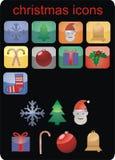 Ícones do Natal do vetor Fotografia de Stock