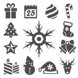 Ícones do Natal do vetor ajustados Fotos de Stock Royalty Free