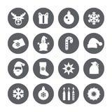 Ícones do Natal Grupo do vetor Imagens de Stock