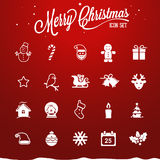Ícones do Natal - ilustração Fotografia de Stock