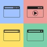 Ícones do navegador Imagem de Stock Royalty Free