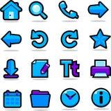Ícones do navegador ajustados Fotografia de Stock Royalty Free