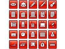 Ícones do negócio imagem de stock