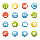 Ícones do negócio Imagens de Stock