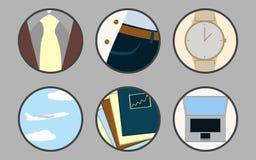 Ícones do negócio Fotos de Stock Royalty Free
