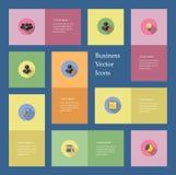 9 ícones do negócio Fotografia de Stock