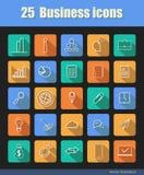 25 ícones do negócio Fotografia de Stock