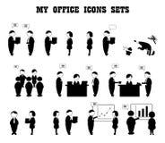 Ícones do negócio Fotos de Stock