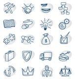 Ícones do negócio ajustados Fotografia de Stock