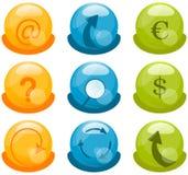 Ícones do negócio ajustados Imagem de Stock