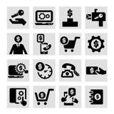 Ícones do negócio ajustados Fotos de Stock Royalty Free